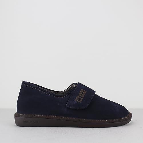 Nordikas - Zapatillas de estar por casa de Piel para hombre Azul azul, color Azul, talla 46 EU: Amazon.es: Zapatos y complementos