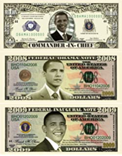 Set of 50 Barack Obama Million Dollar Bill