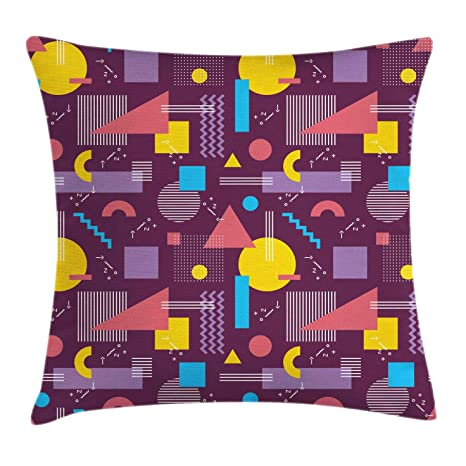 Multicolor Decorative Square Accent Pillow Case 16 X 16 Inches Ambesonne Geometric Throw Pillow Cushion Cover Modern Hexagonal Fractal Puzzle Stylized Defocus Blurry Artsy Winter Landscape