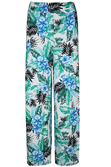 43c16a70d0b Oops Outlet Women s Printed Flared Wide Leg Parallel Pants Palazzo Leggings  at Amazon Women s Clothing store