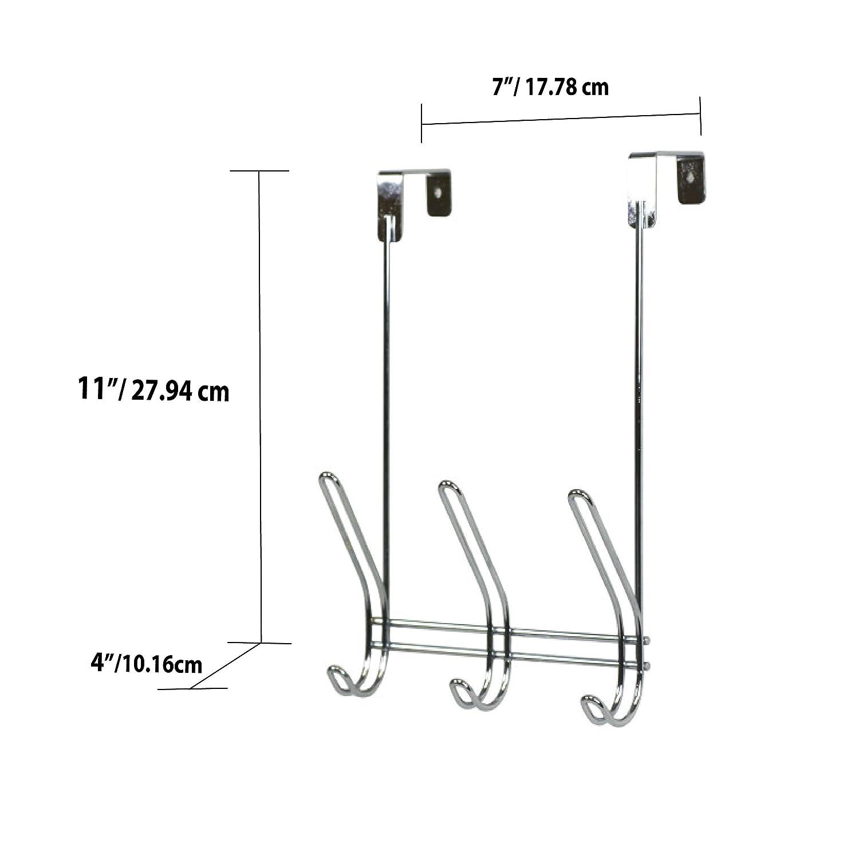 Amazon.com: Home Basics 3-Hook sobre la puerta colgadero ...
