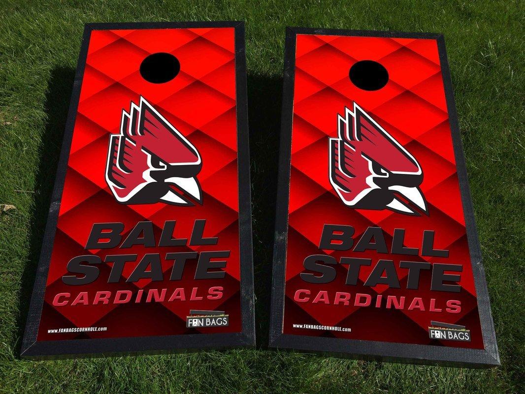 ボール州立大学公式サイズ( 2 ' x4 ' ) Complete Cornholeボードセットby fanbags Cornhole   B072PZGGF2