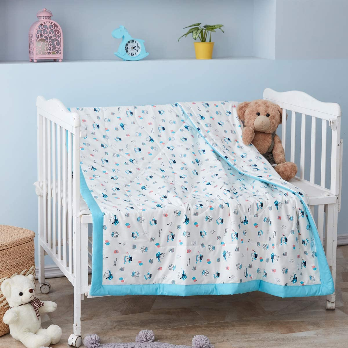 Soft Cot Comforter Crib Baby Quilts for Boys and Girls 36x48 Knitted Cotton 1 Pack Baby Blanket Cradle Quilt Nursery Bed Throw Blanket Bed Cover Lightweight Blanket Rainbow UOMNY Baby Blanket