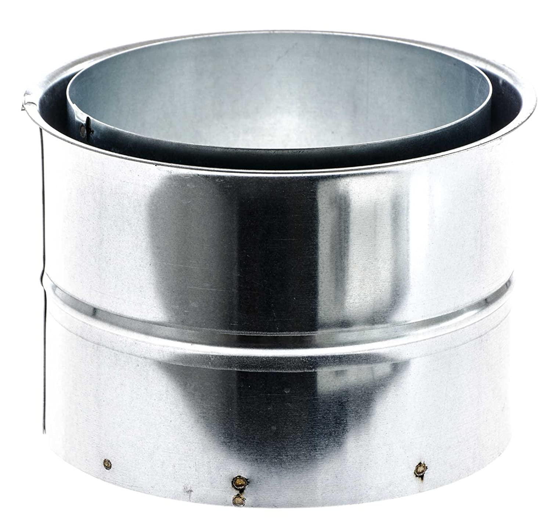 SIDCO /® 150 mm Wandfutter Doppelwandfutter Ofenrohr Rauchrohr Kaminanschluss Ofen