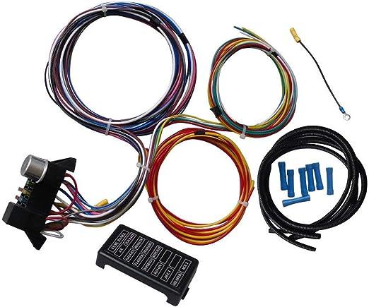 Arnés de cableado Universal de 12 circuitos para el automóvil ...