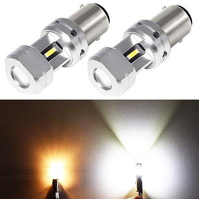 Phinlion 3600 Lumens 1157 2057 LED Backup Light Bulb Super Bright 3496 7528 LED Bulbs for Back Up Reverse DRL Daytime Running Lights, 6000K Xenon White: Automotive