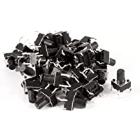 6 mm x 9.5 mm Uxcell a13092400ux0064 100X Push Button Tactile Tact Switch SPST No
