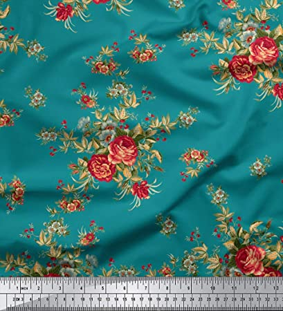 """Paisley Printed Cotton 43/""""Wide Fabric Dressmaking Crafting Fabrics By 1 Pcs/"""""""