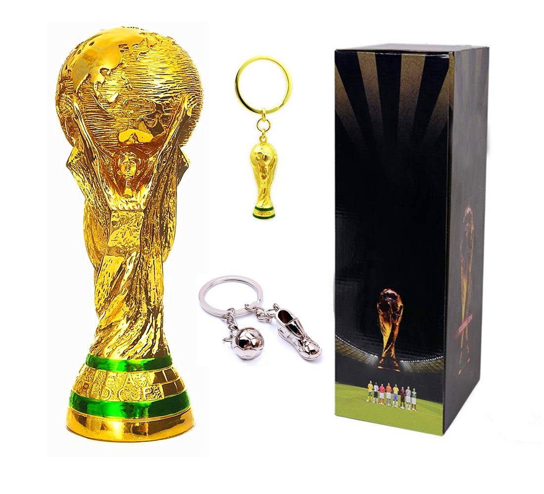 Soccer Trophy - Award, World Cup Trophy 1:1 Replica, 14 Inches Tall