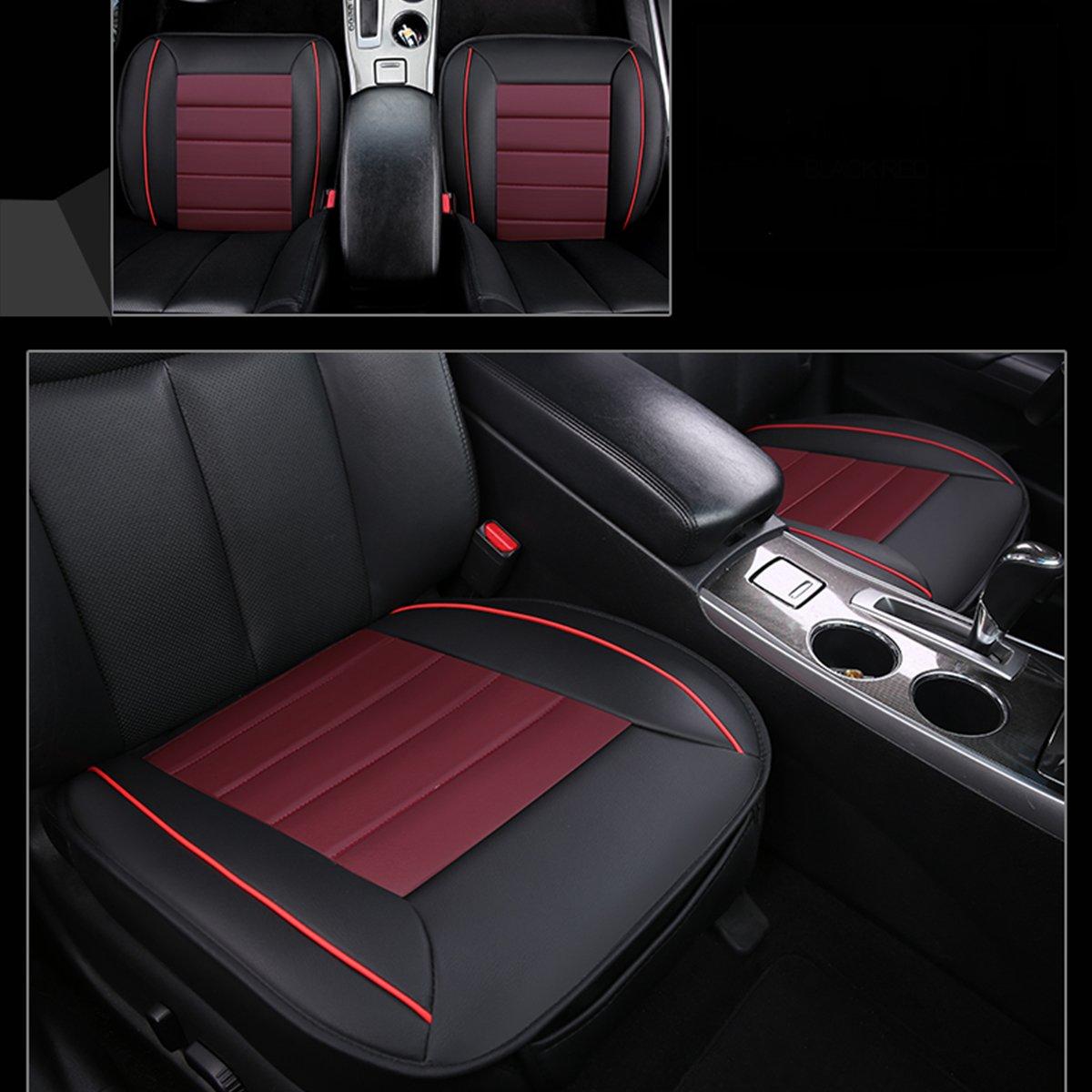 Nero e rosso Cuscino coprisedile auto,WINOMO Coperchio per sedia auto universale in cuoio