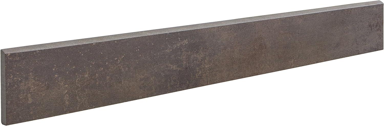 1 m/² Feinsteinzeug Fliesen in Metalloptik Iron Rostbraun Bodenfliesen 30x60 cm