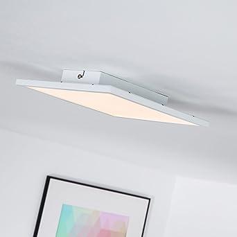 Panel LED 10 W - Lámpara de techo, 25 x 25 cm cuadrado, 1 x ...