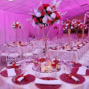 Amazon Com Everbon Set Of 10 Flower Vase For Wedding 31 5 39 4
