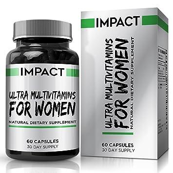 Multivitamínico para Mujeres – Vitaminas, Antioxidantes y Minerales Esenciales con Betacaroteno e Isoflavonas de Ñame