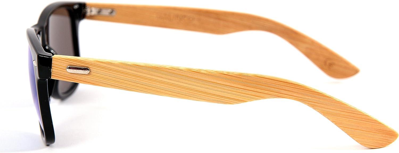 haute qualit/é Bambou Bois Nerd Lunettes De Soleil Gomme Style R/étro Vintage Unisex lunettes avec Charni/ère /à ressort 9 diff/érentes couleurs//Mod/èles au choix