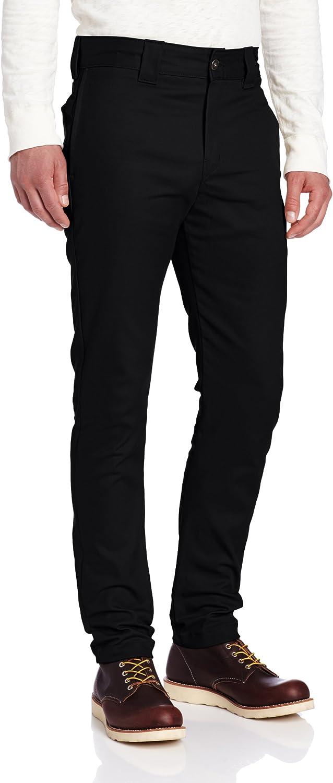 Dickies Men's Slim Skinny Fit Twill Work Pant: Clothing