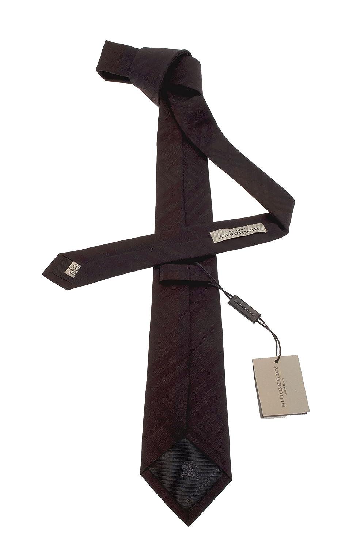Burberry - Corbata - para hombre Marrón marrón Talla única: Amazon ...