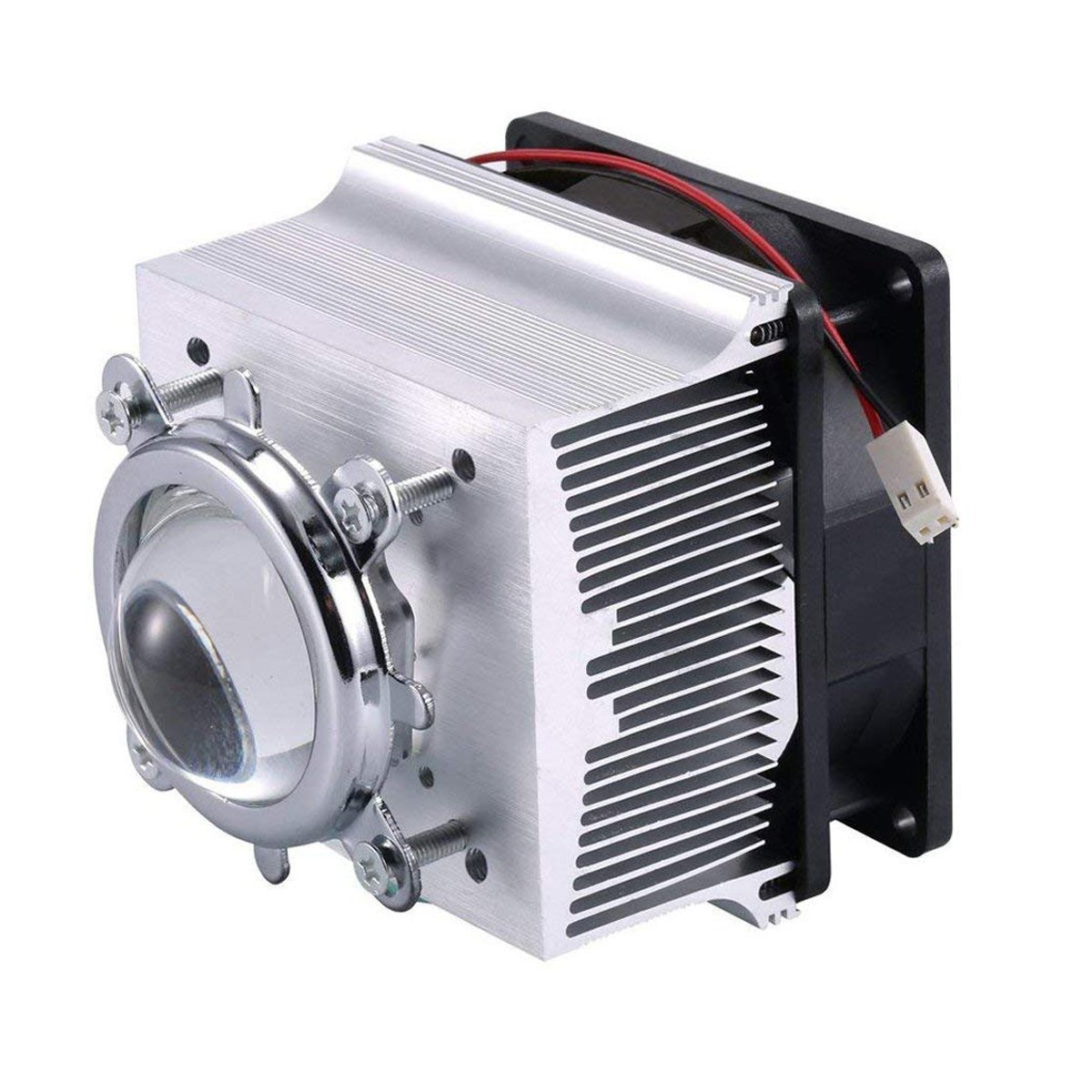 TX Aluminium Heatsink Cooling Fan+44mm Lens 120 Degree for 50W 100W Led Chip (Heatsink +120 Degree Lens)