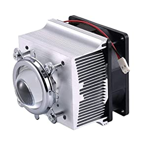 TX Aluminium Heatsink Cooling Fan+44mm Lens 60 Degree for 50W 100W LED Chip (Heatsink+60 Degree Lens)