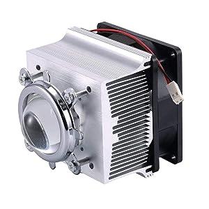 TX Aluminium Heatsink Cooling Fan+44mm Lens 120 Degree for 50W 100W Led Chip (Heatsink +120 Degree Lens)