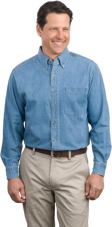 Port Authority Men's Long Sleeve Denim Shirt