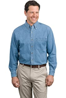 Heavyweight Denim Shirt Dark Blue Stonewashed Port Authority XX-Large S100