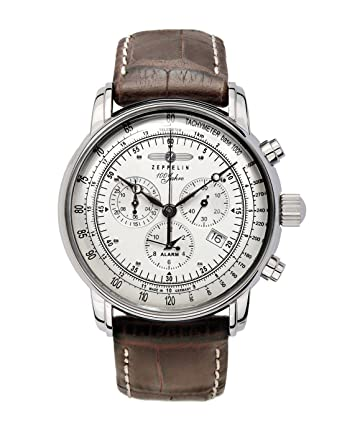 zeppelin men s chronograph watch 76801 alarm date function zeppelin men s chronograph watch 76801 alarm date function and tachymeter