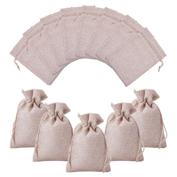 10 opinioni per NBEADS 100 Pcs Borsa di gioielli Borse sacchetti di cotone per la festa nuziale