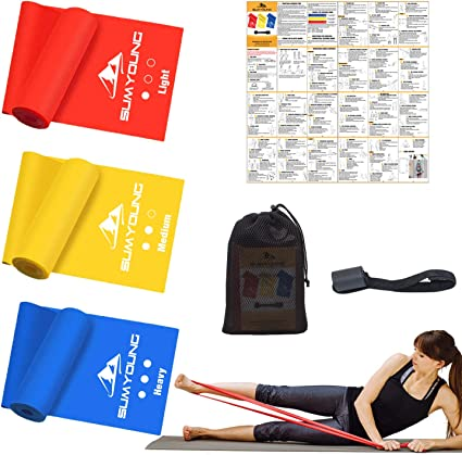 1x Resistance Loop Exercise Band Physical Therapy Fitness Training Workout Band