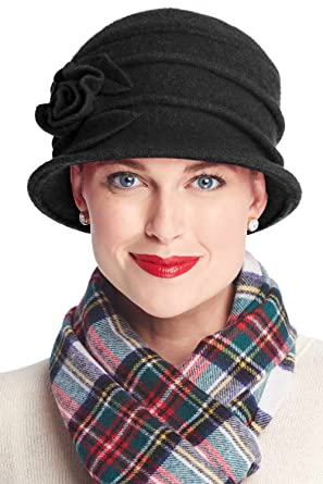 87018641d58 Headcovers Unlimited Wool Whitney Rose Cloche Hat