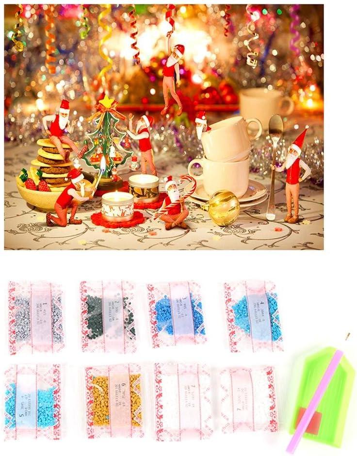 parfait pour la maison mur//Halloween // d/écor de No/ël 30 * 40 cm // 11.8 * 15.7 pouces Kit de peinture diamant 5D bricolage cristal strass broderie point de croix