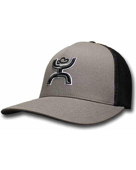 """3dfd49c97a2d1c HOOey """"Coach Grey/Black Flex Fit Mesh Back Hat - 1546GYBK (Small"""