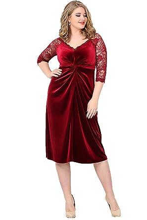 ANGELINO Damen Kleid Cocktailkleid Übergrösse Grosse Grössen ...