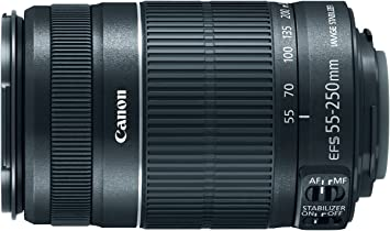 Canon EF-S 55-250MM F//4.0-5.6 is II Telephoto EOS Camera Zoom Lens Deluxe Accessory Kit