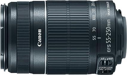 Canon Ef S 55 250mm F 4 5 6 Is Schwarz Kamera