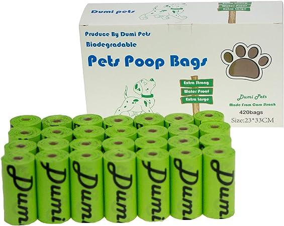Dumi Pets Bolsas biodegradables para residuos de perro extra ...