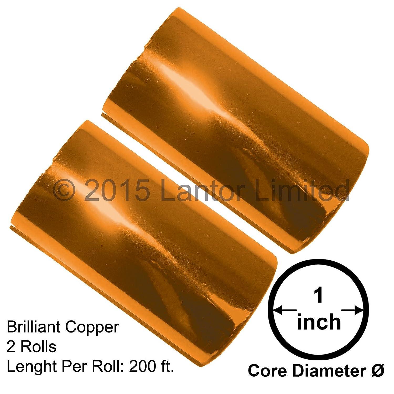 Hot Stamp Foil Stamping Tipper Kingsley 2 Rolls 3x200ft Brilliant Copper