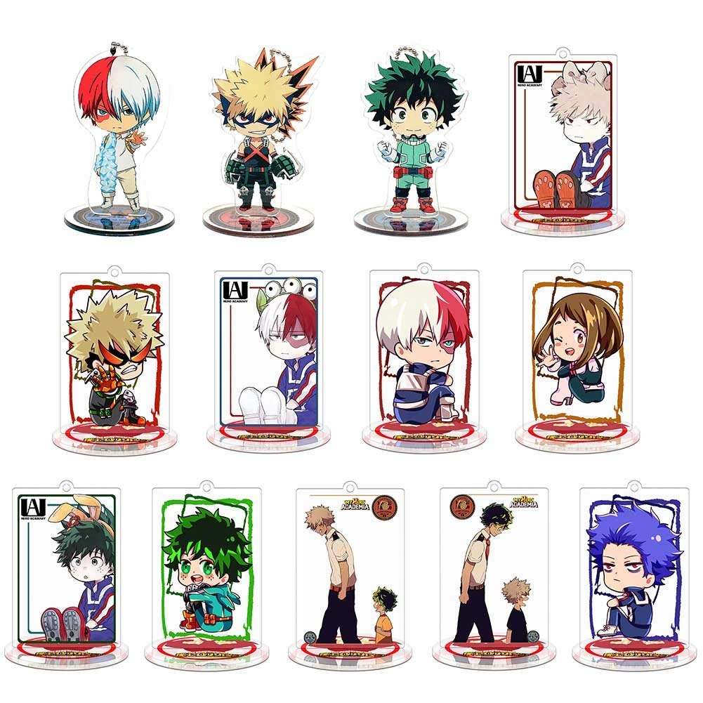 Raleighsee My Hero Academia Anime Acrylic Standing Figure Double-Sided Transparent Desk Stand Miniature Action Figure Decoration Anime Fans Gift( 13 Set) by Raleighsee