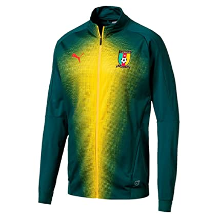 bebf50891 Amazon.com   PUMA 2018-2019 Cameroon Stadium Jacket (June Bug)   Sports    Outdoors