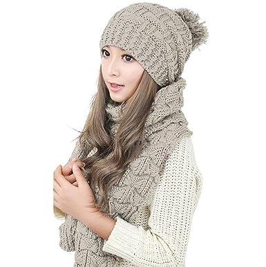 Jelinda - Ensemble bonnet, écharpe et gants - Femme beige beige taille  unique 95356d080e0