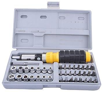 Hk Villa Multipurpose Tool Kit Screwdriver Set - 41 in 1 Pcs Tool Kit Screwdriver and Socket Set Screwdriver Set for Home Screwdriver kit Home Tool kit Set