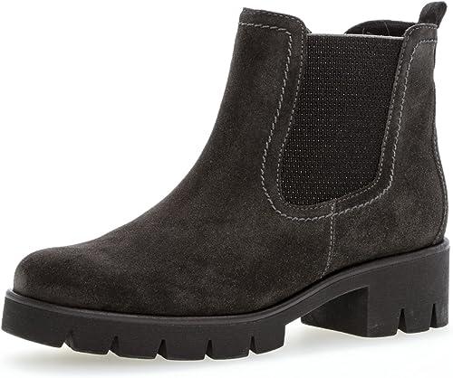 Gabor Damen Chelsea Boots 93.710,Frauen Stiefel,Halbstiefel,Stiefelette,Bootie,Schlupfstiefel,hoch,Blockabsatz 3cm,F Weite (Normal)