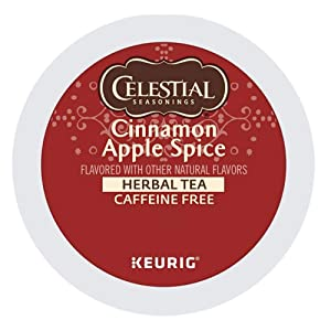 Celestial Seasonings Cinnamon Apple Spice, Keurig Single-Serve K-Cup Pods, 96 Count