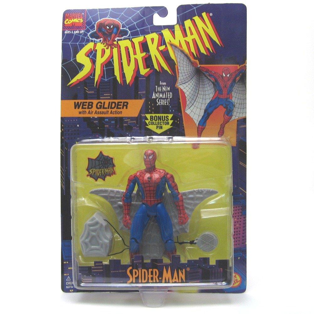 Spider-Man The Animated Series  Web Glider Spider-Man Action Figure Toy Biz