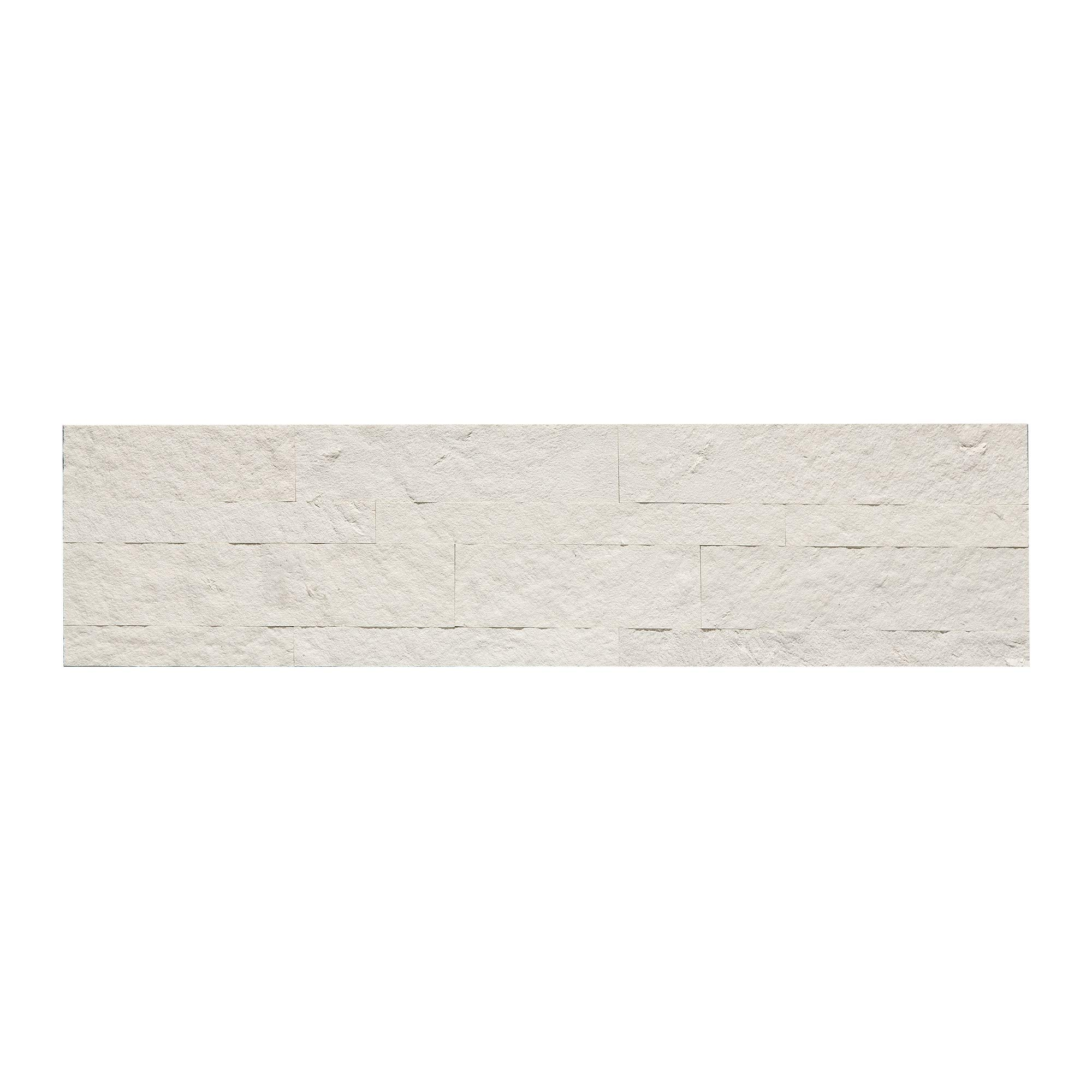 Aspect Peel and Stick Stone Overlay Kitchen Backsplash (5.9'' x 23.6'' Panel, Ivory Marble) - Easy DIY Tile Backsplash