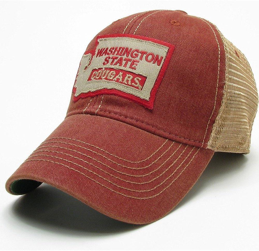 Black State Logo Washington State Cougars Legacy Trucker Hat