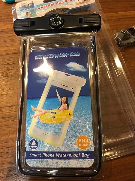 携帯防水ケースフォンケース・カバー-【アウトドア、海水浴、潜水-、水泳、温泉、釣り、砂浜、水遊、風呂等に最適!】全防水防塵-ネックストラップ付属-6インチ以下全機種対応