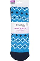 Mountain Warehouse Patterned Ski Tubes - 2PK - Lightweight, Durable, Extra Warmth & Easy Care with Fine Toe Seam for Comfort - One Size Fits All