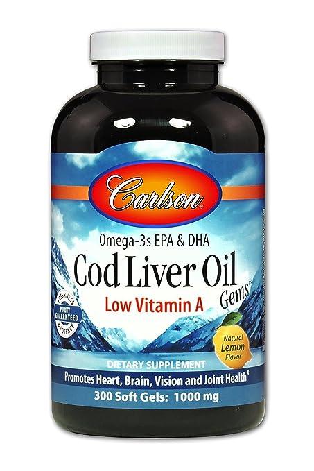 Carlson Labs - Magnesio bajo de la vitamina A de las gemas del aceite del hígado