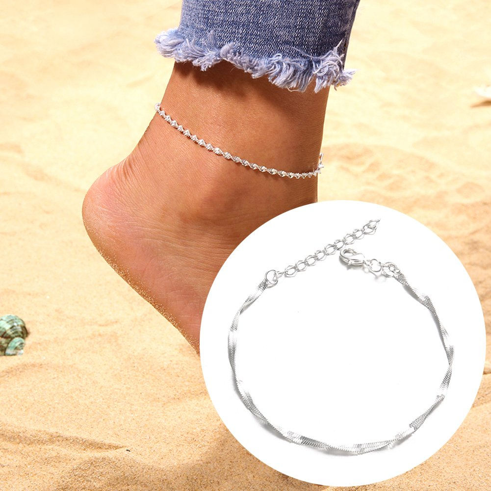 Timeracing boho donne Slim caviglia catena piede cavigliera braccialetto a piedi nudi sandalo spiaggia gioielli